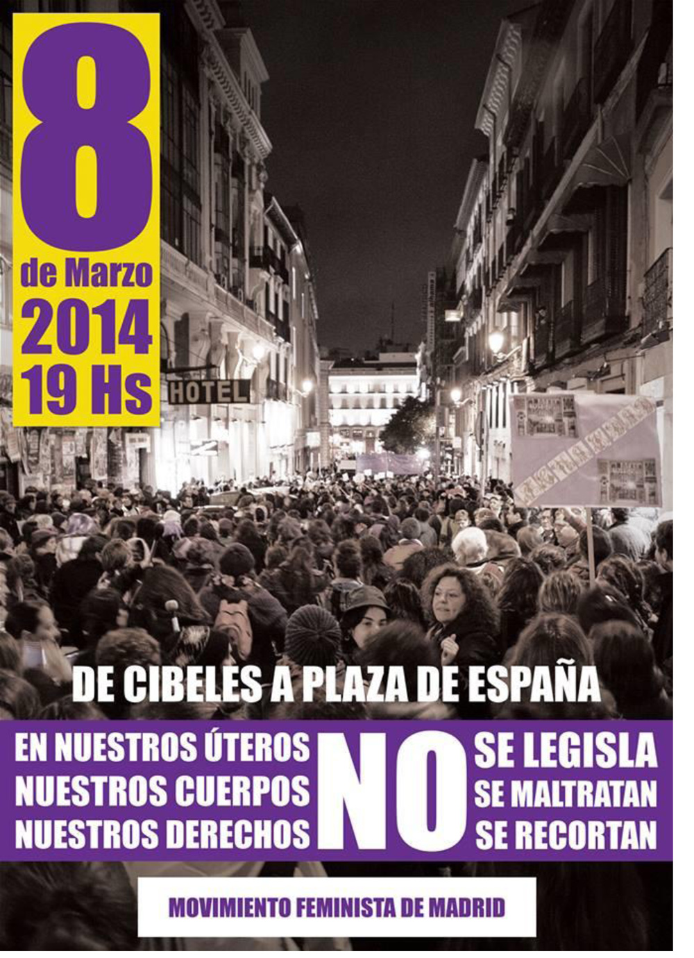 Cartel manifestación 8 de marzo