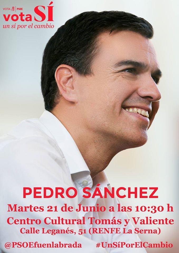 Pedro Sanchez en Fuenlabrada