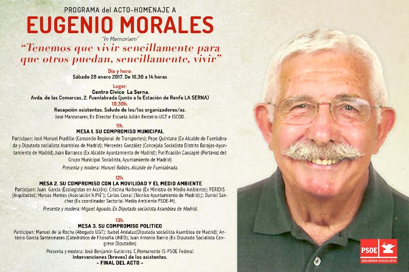 Acto-Homenaje a Eugenio Morales