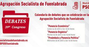 Calendario de debates de la Ponencia Marco del 39º Congreso Federal aprobado por la Comisión Ejecutiva Local, que se celebrarán en la Agrupación Socialista de Fuenlabrada (C/. del Plata, 12 […]